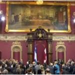 Cérémonie de dévoilement du Conseil des Ministres au Salon rouge de l'Assemblée nationale.